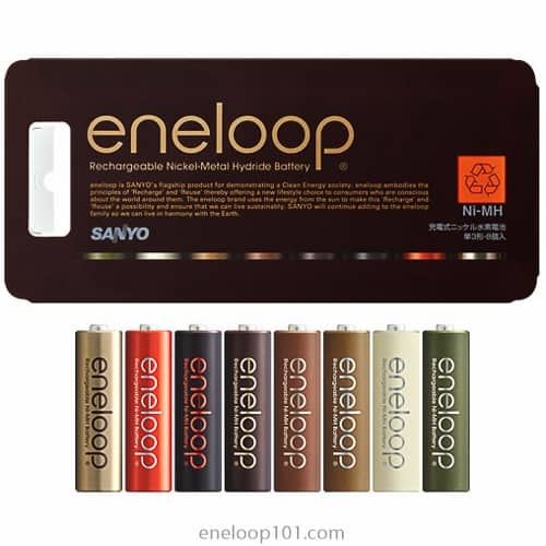 Natural, chocolate colored eneloops