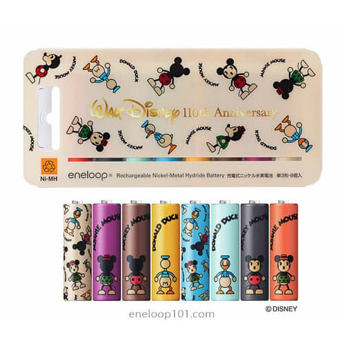 colorful disney character batteries