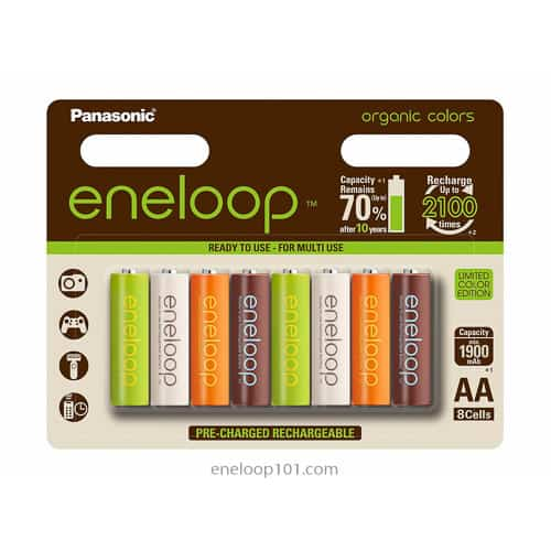 Organic colors batteries