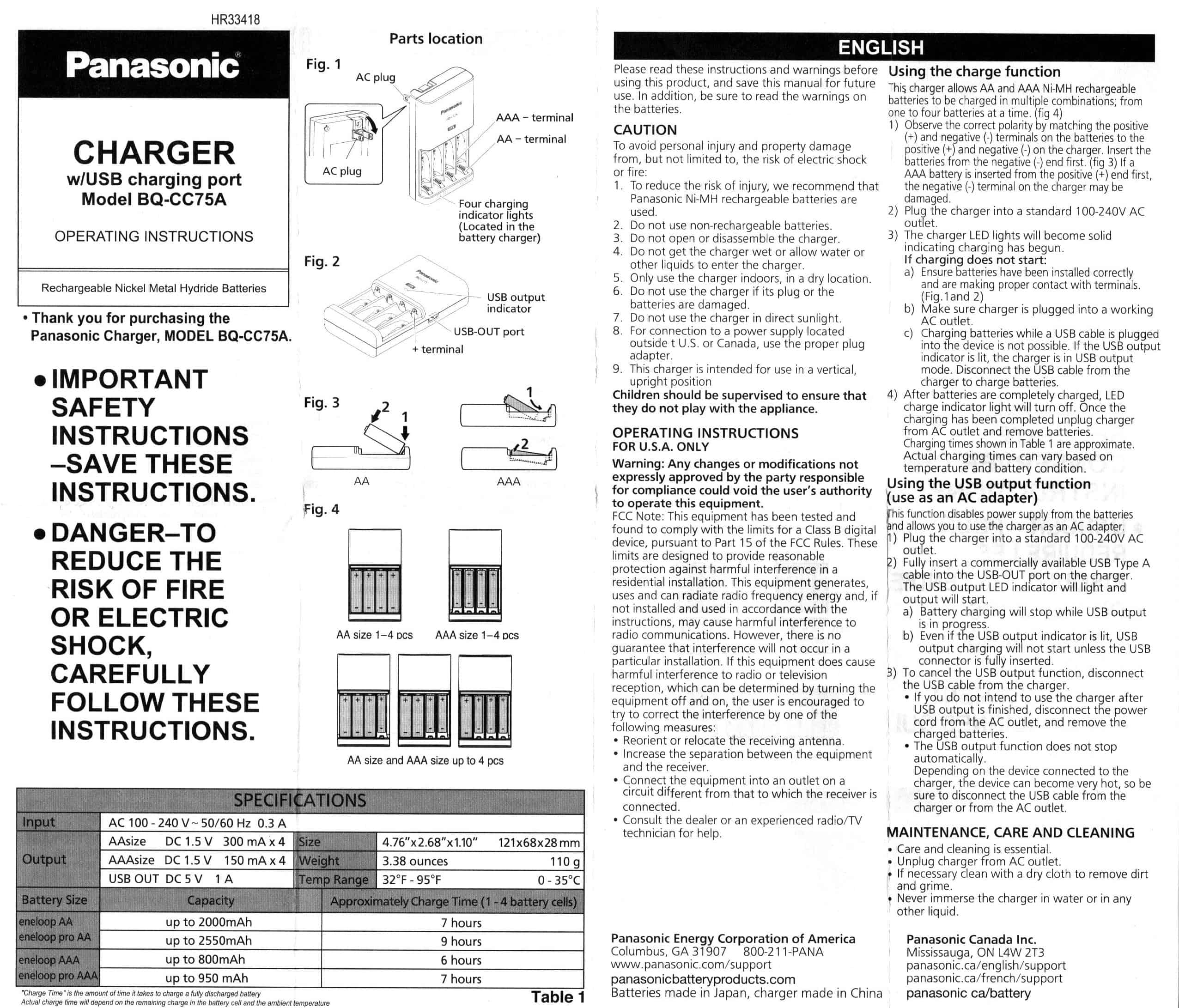 Complete Sanyo And Panasonic Eneloop Charger List The