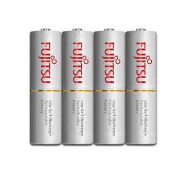 4 white AA fujitsu batteries