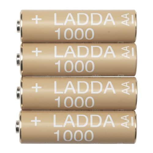 Ikea Ladda 1000mAh batteries