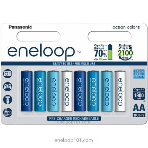 Panasonic eneloop Ocean colored batteries