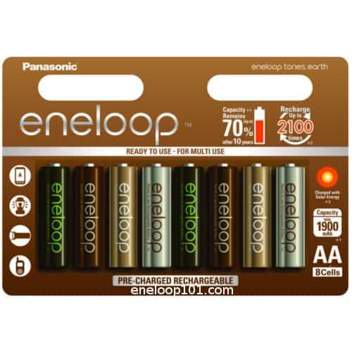 BK-3MCCE/8UE eneloop batteries tones earth