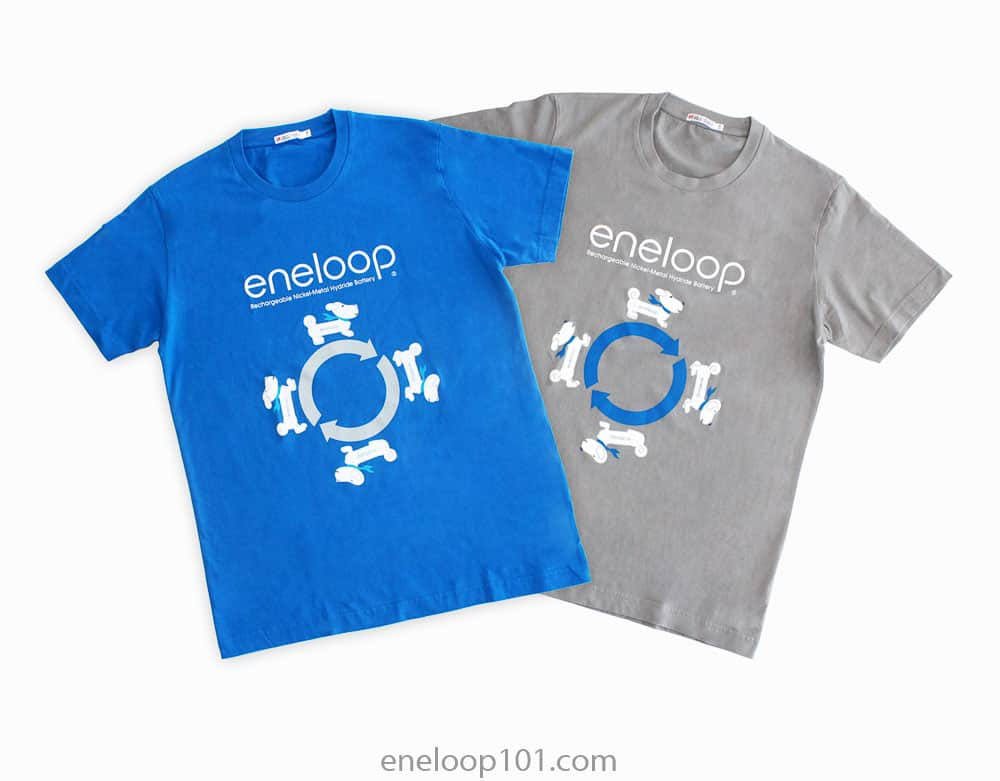 White and blue eneloopy tshirts